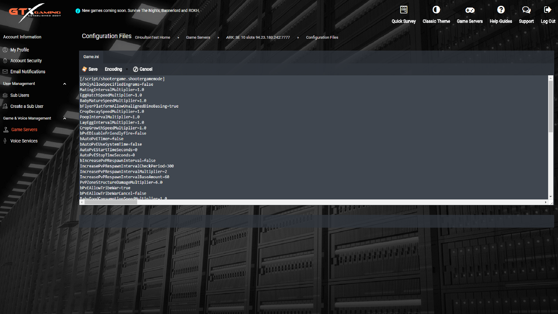 Ark Server Hosting - 4 8Ghz and NVME Turbo Game Server Hosting
